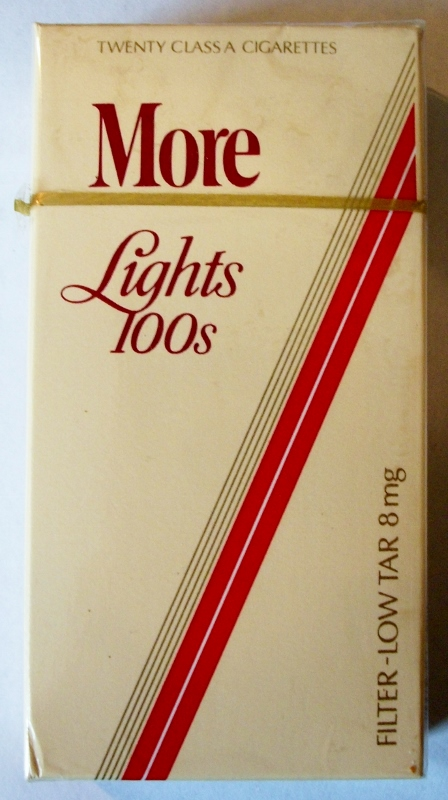More Lights 100's Filter - vintage American Cigarette Pack