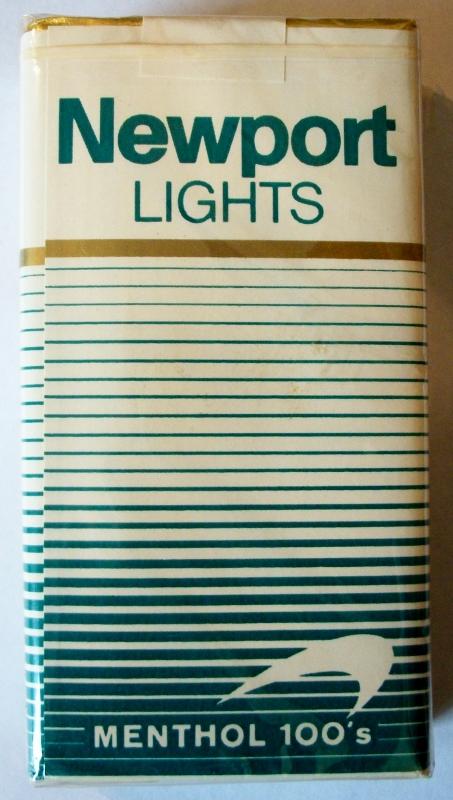 Newport Lights Menthol 100's - vintage American Cigarette Pack