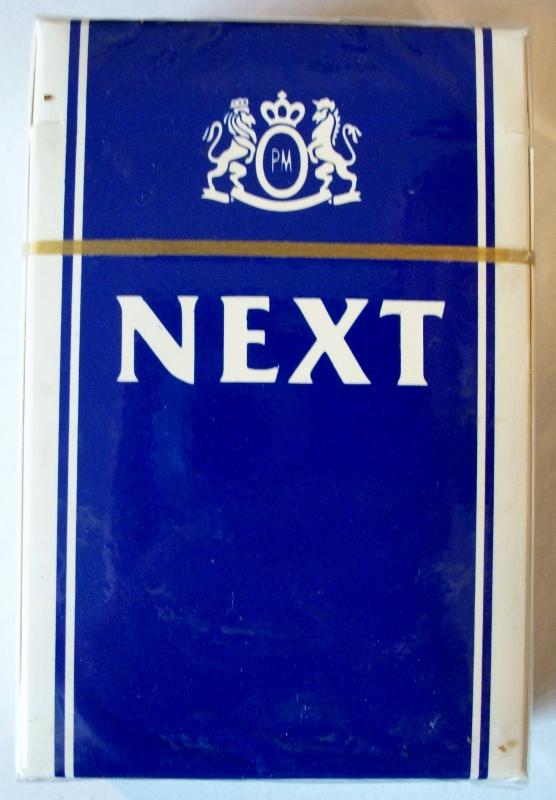 Next, Filter King Size Box - vintage American Cigarette Pack