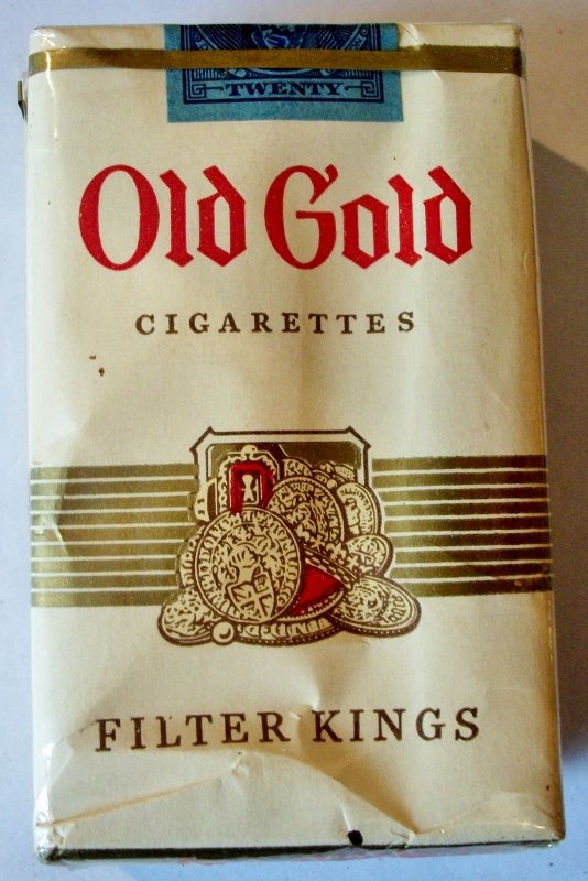 Old Gold Filter Kings - vintage American Cigarette Pack