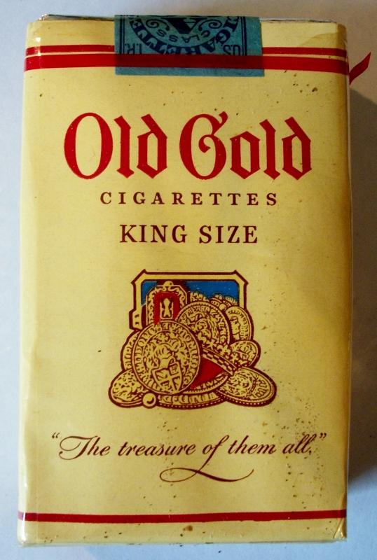 Old Gold 1953, King Size - vintage American Cigarette Pack