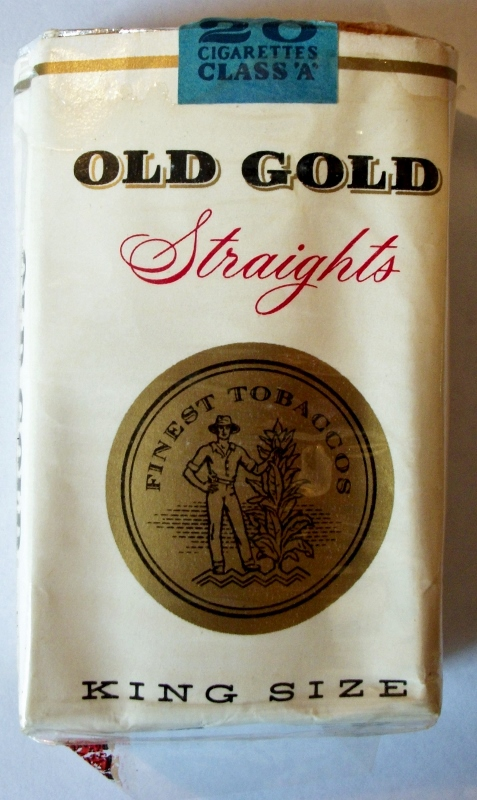 Old Gold Straights, King Size - vintage American Cigarette Pack
