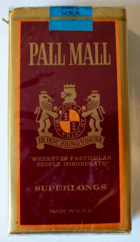 Pall Mall Superlongs - vintage American Export Cigarette Pack