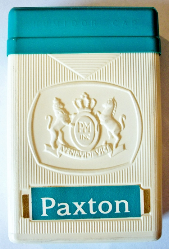 Paxton Menthol, King Size, plastic box - vintage American Cigarette Pack