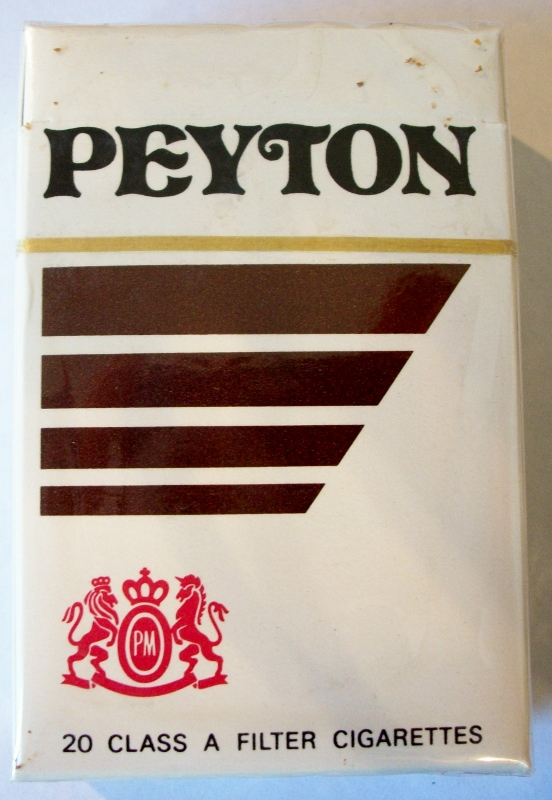 Peyton Filter, King Size box - vintage American Cigarette Pack