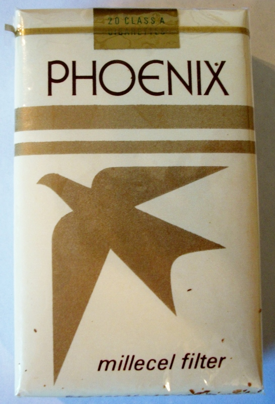 Phoenix Millecel Filter 1978 King Size - vintage American Cigarette Pack