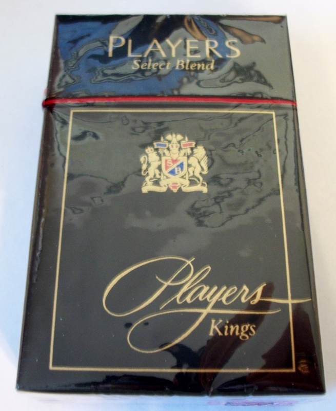 Players Select Blend Kings box - vintage American Cigarette Pack