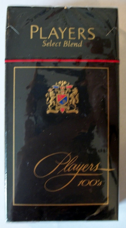 Players Select Blend Filter 100's box - vintage American Cigarette Pack