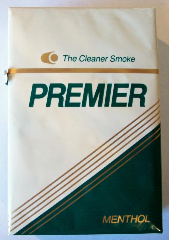 Premier Menthol, King Size box - vintage American Cigarette Pack