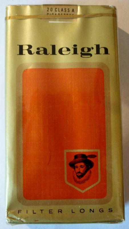 Raleigh Filter Longs - vintage American Cigarette Pack