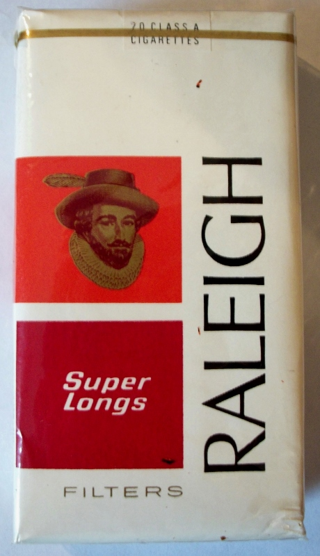 Raleigh Super Longs Filters - vintage American Cigarette Pack