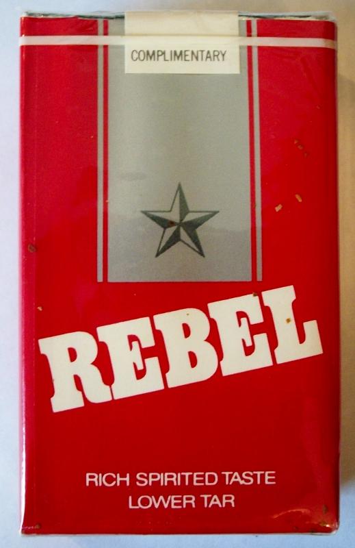 Rebel Kings, Lower Tar - vintage American Cigarette Pack