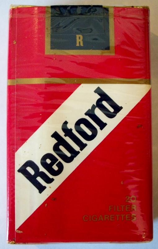Redford Filter, King Size - vintage American Cigarette Pack