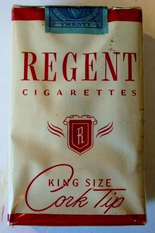 Regent 1950 Cork Tip King Size - vintage American Cigarette Pack