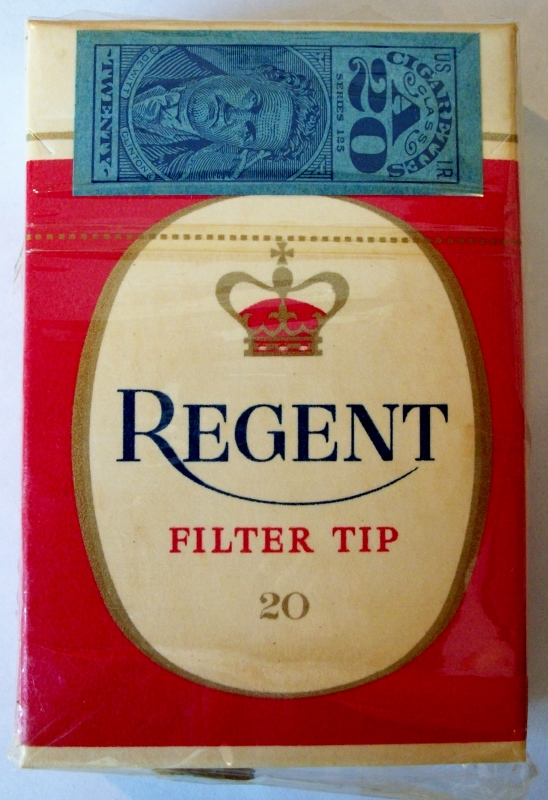 Regent late 1950s Filter Tip, King Size - vintage American Cigarette Pack