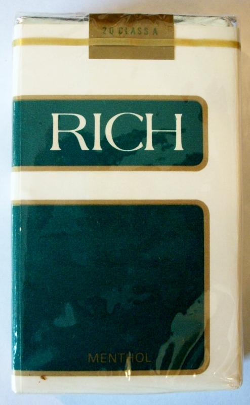 Rich Menthol, King Size - vintage American Cigarette Pack