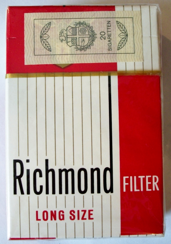 Richmond Long Size Filter box - vintage Namibian Cigarette Pack