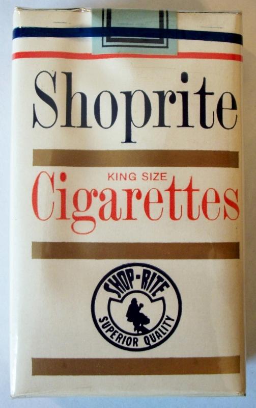 Shoprite King Size Cigarettes - vintage American Cigarette Pack