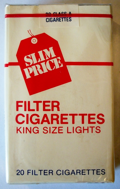 Vons Slim Price Filter King Size Lights - vintage American Cigarette Pack