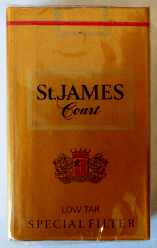 St. James Court Special Filter, King Size - vintage American Cigarette Pack