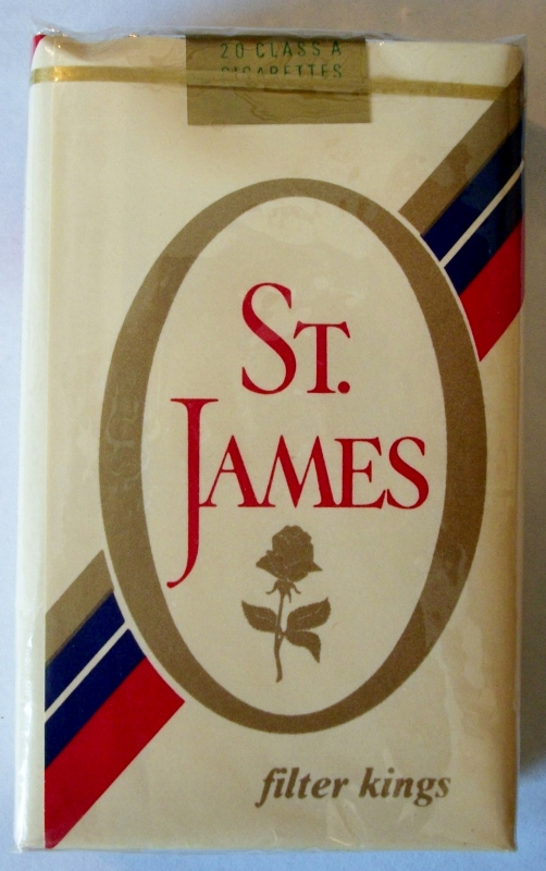 St. James Filter Kings - vintage American Cigarette Pack