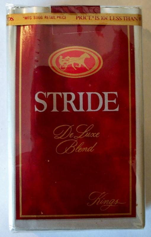 Stride DeLuxe Blend Kings - vintage American Cigarette Pack