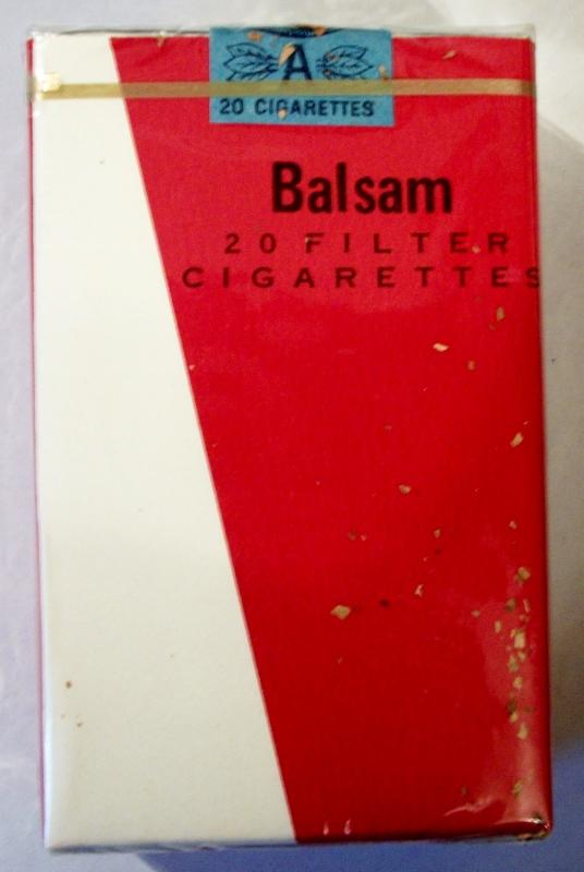 Balsam filter - vintage Trademark Cigarette Pack