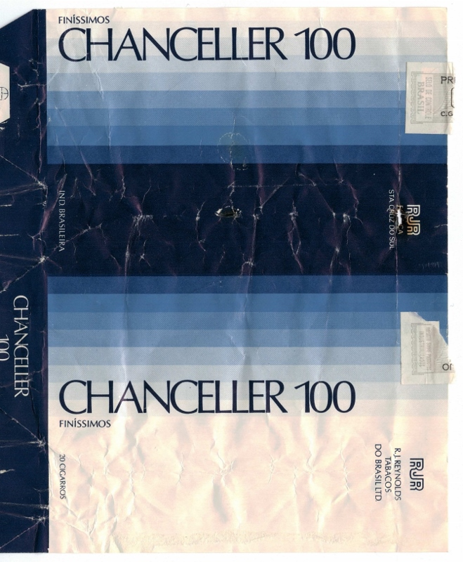 Chanceller 100 Finíssimos - vintage Brazilian Cigarette Pack