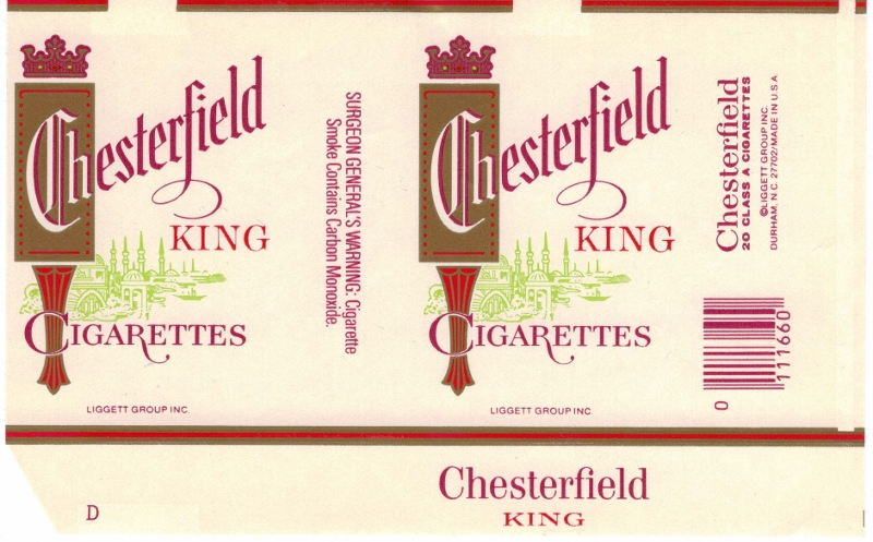 Chesterfield King - vintage American Cigarette Pack