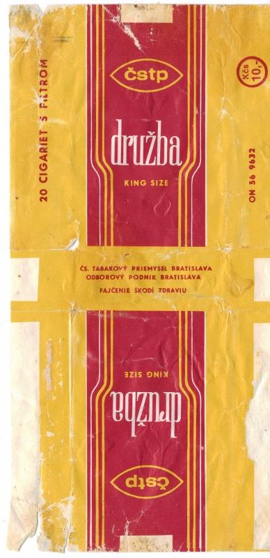 Družba King Size - vintage Slovak Cigarette Pack