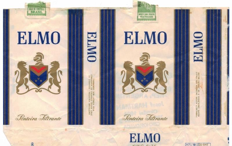 Elmo Ponteira Filtrante, King Size - vintage Brazilian Cigarette Pack