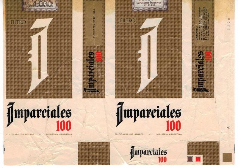 Imparciales 100s Filtro - vintage Argentinian Cigarette pack, version 2