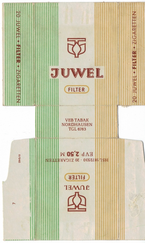 Juwel Filter Filter - vintage German Cigarette Pack
