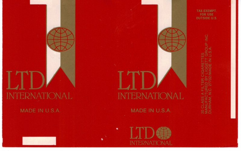 LTD International - vintage American Cigarette Pack
