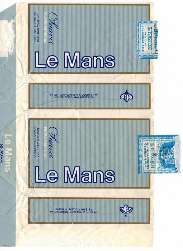 Le Mans Suaves Filtro - vintage Argentinian Cigarette Pack