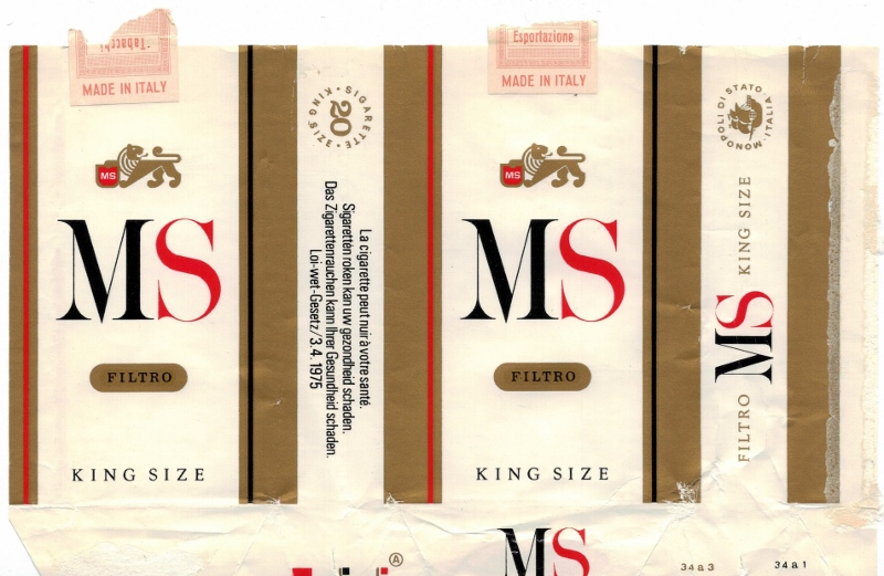 MS Filtro King Size - vintage Italian Cigarette Pack
