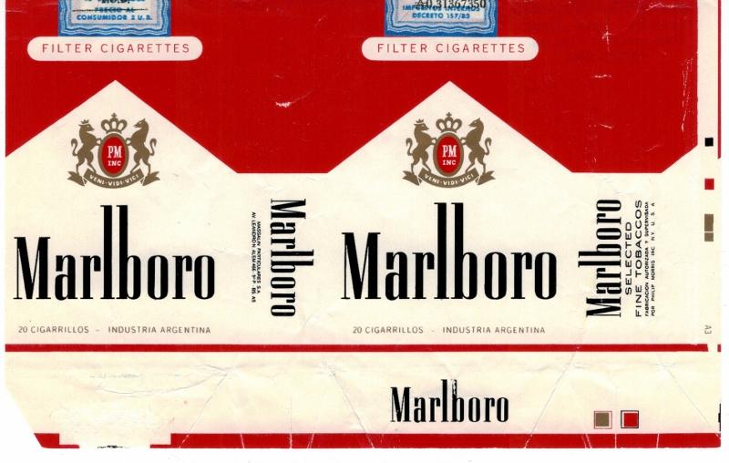 Marlboro Filter king size - vintage Argentinian Cigarette Pack