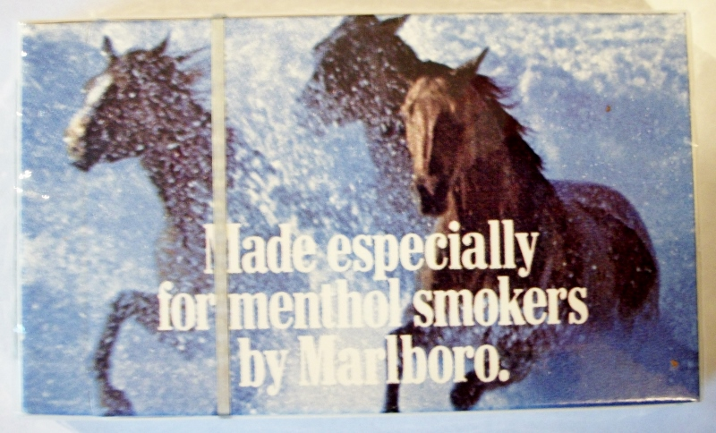 Marlboro Menthol Lights 85mm complimentary pack w/ coupon - vintage American Cigarette Pack