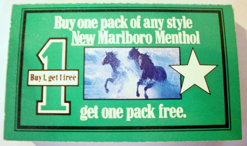 Marlboro coupons free pack