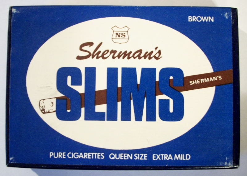 Nat Sherman's Slims Brown - vintage American Cigarette Pack