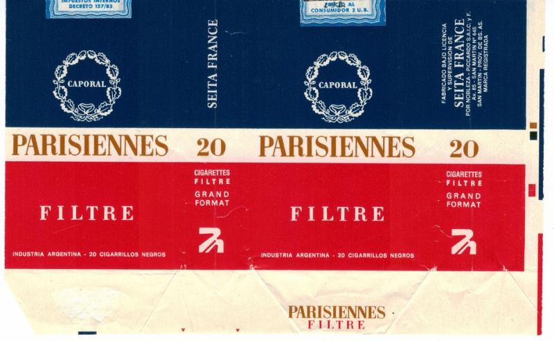 Parisiennes Caporal Filtre - vintage Argentinian & French Cigarette Pack