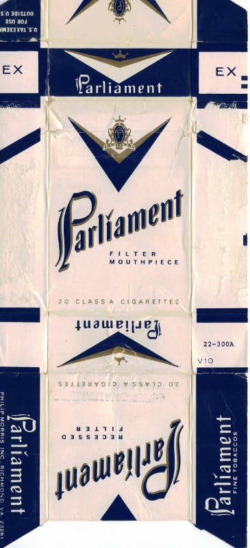 Parliament Recessed Filter - vintage American Cigarette Pack