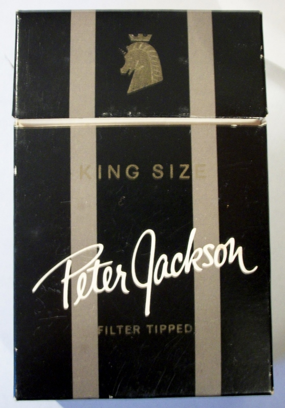 Peter Jackson filter tipped, king size - vintage Canadian Cigarette Pack