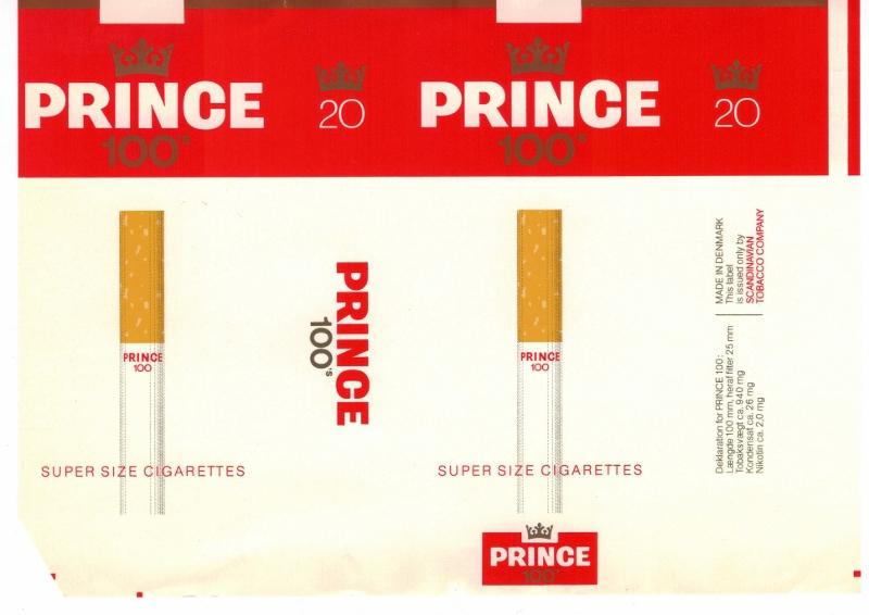 Prince 100's - vintage Danish Cigarette Pack