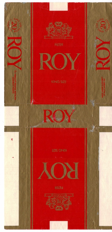 Roy king size filter - vintage Slovakian Cigarette Pack