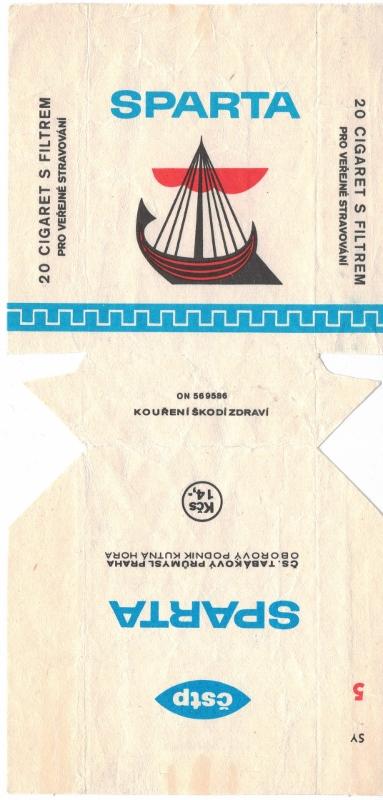 Sparta Filter - vintage Czechoslovakian Cigarette Pack