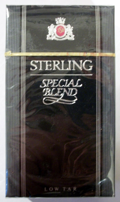 Sterling Special Blend, Low Tar 100's - vintage American Cigarette Pack