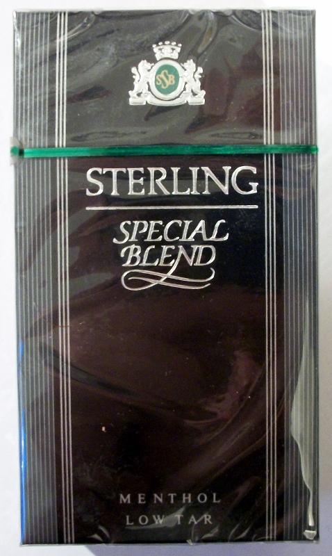 Sterling Special Blend, Menthol 100's - vintage American Cigarette Pack