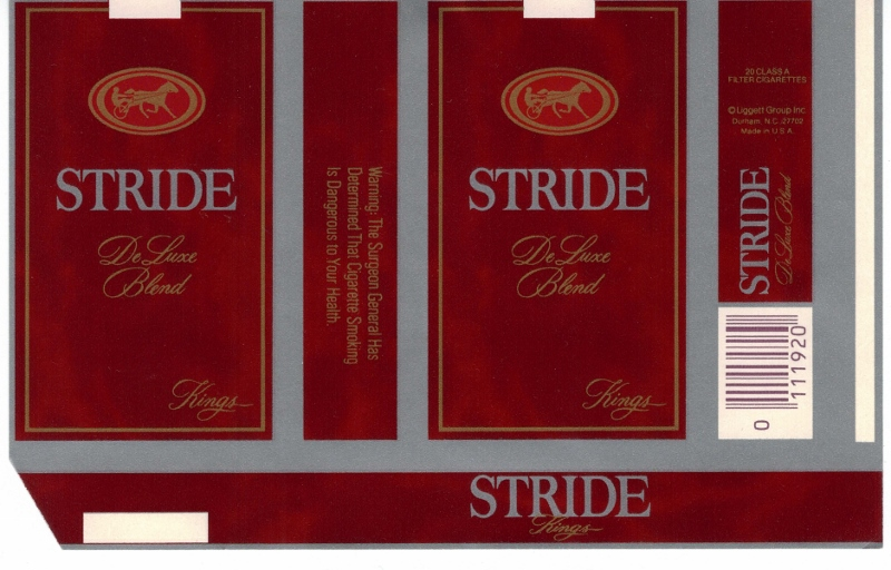 Stride DeLuxe Blend Kings - vintage American Cigarette Pack version B