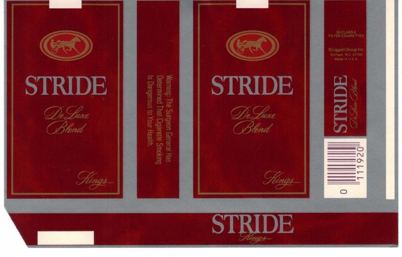 Stride DeLuxe Blend Kings - vintage American Cigarette Pack version B
